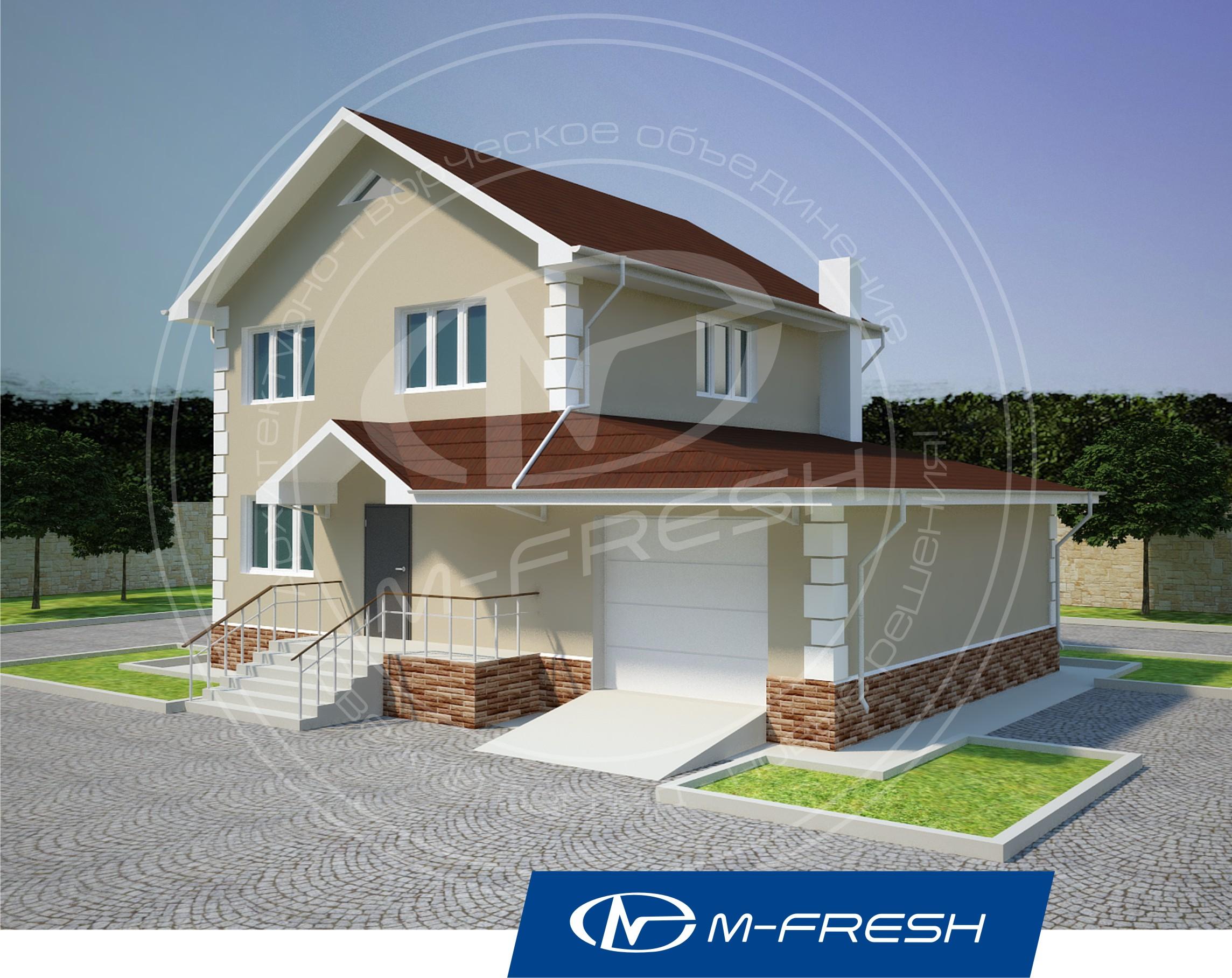 Проект дома со встроенным гаражом 30